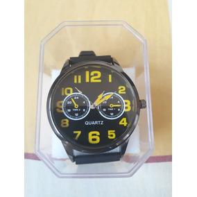 Relógio Casual Masculino Pulseirade Silicone+caixa Acrilico