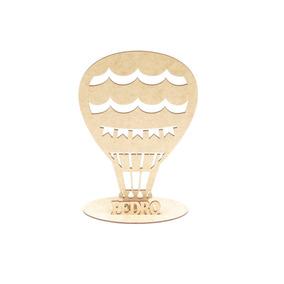 35 Lembrança Balão Personalizado Mdf Cru 25cm Festas