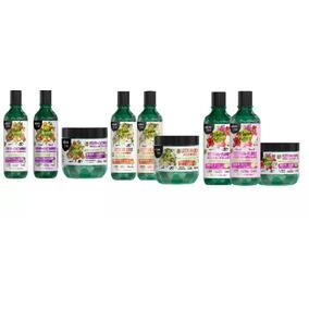 3 Kits Maria Natureza Salon Line (flores, Coco E Castanhas)