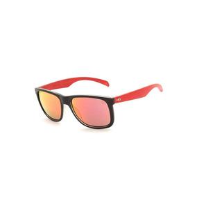 ed084a71d26d1 Óculos De Sol Hb Ozzie Preto Vermelho Modelo 9014065190 + Nf