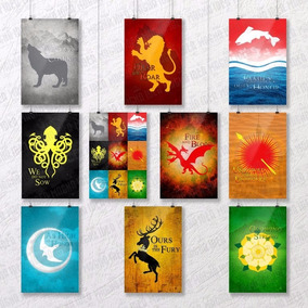 Kit 10 Pôsteres 20x30 Game Of Thrones