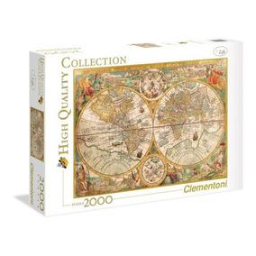 Quebra Cabeça Clementoni 2000 Peças Mapa Mundi Antigo Puzzle