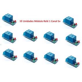 10 Unidades Módulo Relé 1 Canal 5v Arduino