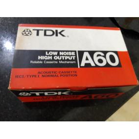 Caixa De Fitas Cassetes Tdk Made In Japan Lacradas