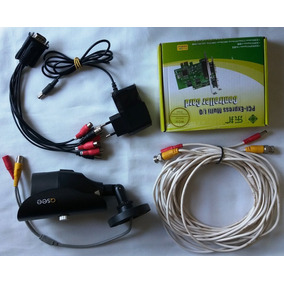 Camera Monitoramento + Placa Captura Q-see Qm6006b 5mm Ccd
