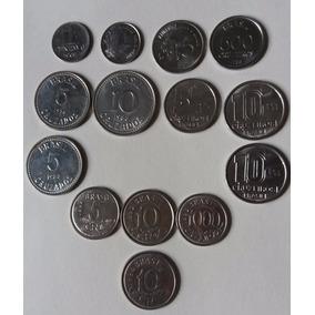 Lote 14 Moedas De Dinheiro - Coleção Antiga - Cod36p