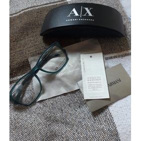 97806592a1fed Óculos De Grau Armani Exchangi Ax 3012l Azul Claro 8084 T54