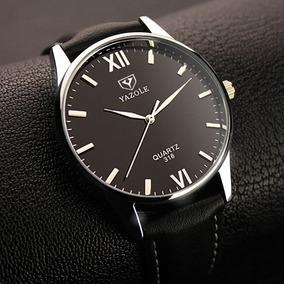 Reloj Hombre Caballero Negro Moda Elegante Moderno Lujo