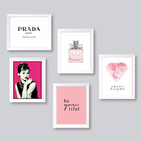 Quadros Decor Prada Marfa Chanel Audrey