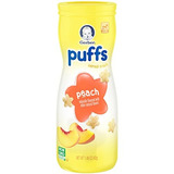 Gerber Gradúa Puffs Cereal Snack, Melocotón, Naturalmente A