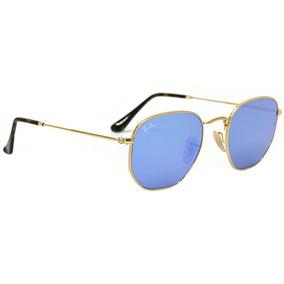 7462c1a9b7aae Rayban Hexagonal Azul - Óculos no Mercado Livre Brasil
