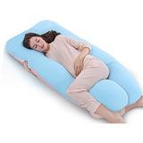 Almohada Embarazo Lactancia Azul Aguamarino(1.50x 75cms)
