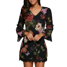 Vestido Con Encaje - Vestidos de Mujer Floral en Mercado Libre México 92769fc5121e