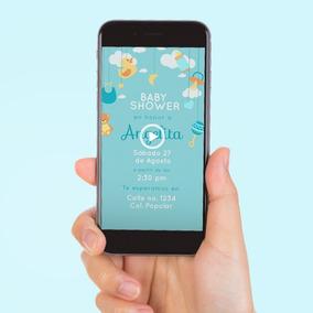 Vídeo Invitación Digital Baby Shower- Ahorra Tiempo Y Dinero
