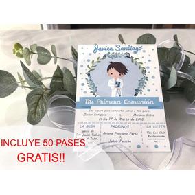 50 Invitaciones Comunión Niño Económicas Y Elegantes