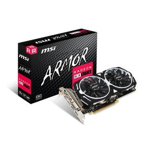 Placa De Video Msi Radeon Rx 570 Armor 8g Oc Gddr5 256 Bits