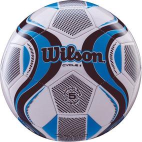 ba1bb8355 Bola De Futebol De Campo Cycle New N.5 Azul branco Wilson