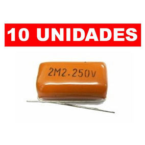 Kit 10 Capacitor Bipolar 2,2uf Para Super Tweeter