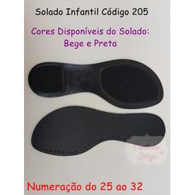 Solados Infantil Com Palmilhas Furadas Cód205