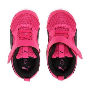 7e7d542a822 Tênis Puma Flex Essential Rosa Preto Feminino Infantil