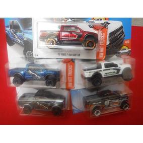 Set 5 Camionetas Doble Cabina Ford F-150 Raptor Hot Wheels