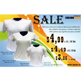 Camisetas Para Sublimación ,tipo Algodón, Desde 3,50 X Myr .