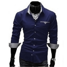 Camisa Social Slim Masculina Branca - Camisa Social Manga Longa ... 46c73627ecd77