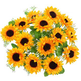 Flores Artificiales De Amyhomie Girasoles De Seda 2 Manojos