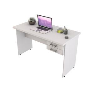 Mesa Para Computador Escrivaninha 1,20m Com 2 Gavetas Branco