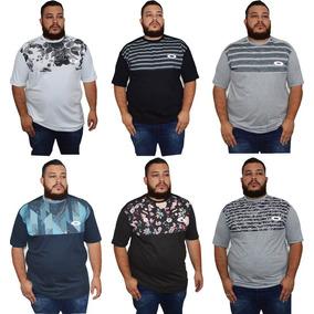 Kit 6 Camisas Oakley Plus Size Masculina Multicolorido 3f10d0617cf