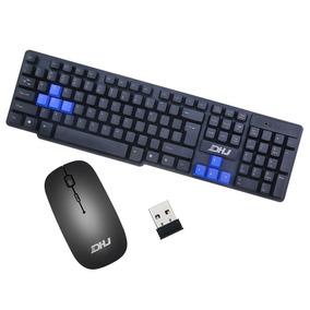 Teclado E Mouse Sem Fio Wireless Dhj-8011 24ghz Notebook Pc