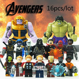 Sy1060 Avengers Infinity War Set X 16 Mini Figuras Thanos