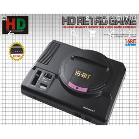 Mega Drive Hdmi Alta Definição , Com Cartucho Com 112 Jogos