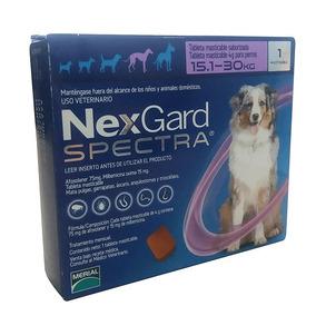 Nexgard Spectra 15-30 Kg Antigarrapatas Y Desparasitante.