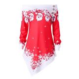Disfraz Decoración Navidad Blusa Casual Dama Playera Fiesta f7c840713e5c1