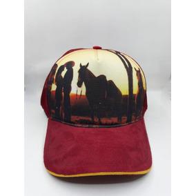 Boné Paisagem Vermelho Country Casual Cavalo Tela c5e96c39abb
