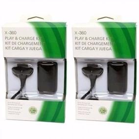 Kit 2 Bateria Carregador P/ Controle Xbox