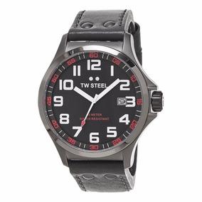 Reloj Caballero Hombre Tw Steel Tw420 Piel Gris Envio Gratis