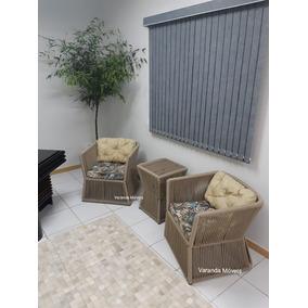 Cadeira Poltrona De Corda Náutica, Sala, Jardim, Varanda