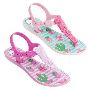Sandália Hello Kitty Mix Fun 21785 Rosa 25 Ao 33 Grendene