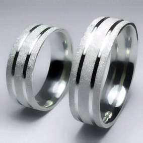 Alianças De Prata 950 10 Gramas Diamantada Com Frisos