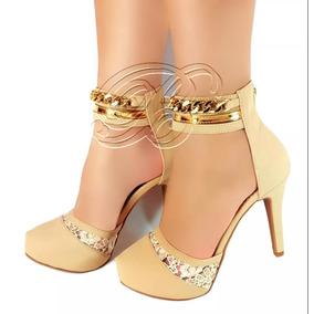 Sapato Feminino Casamento Scarpin Sandália Natal Fim De Ano