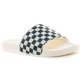 Ojotas Slide-on Checkerboard White Vans Fluid Tienda Oficial