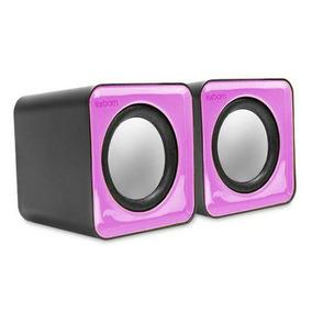Caixa De Som Mini 2.0 Canais Usb 5w Rosa Exbom - Cs-32