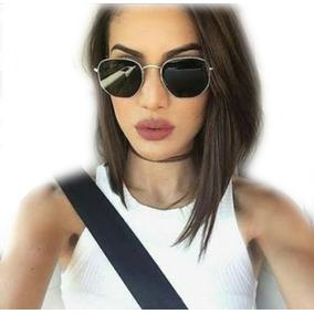 Óculos Feminino Masculino Promoção Hexagonal Moda Blogueiras 92356d6290