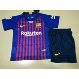 f59c3938da Camisa + Shorts Infantil Barcelona 2018-19 Promoção Oferta