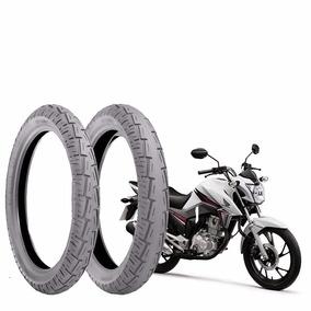 Kit Pneu Moto Cg/titan/suzuki D-2.75-18+90/90-18-t Technic