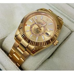 Reloj Rolex Sky-dweller Oro Amarillo Esfera Dorada Automatic