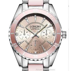 fad1672455d Relogio Fem Guess Fundo Rosa - Relógios De Pulso no Mercado Livre Brasil