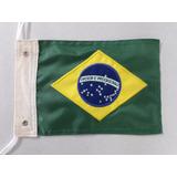 Bandeira Moto Brasil, Bandeira Moto Chopper Bordada